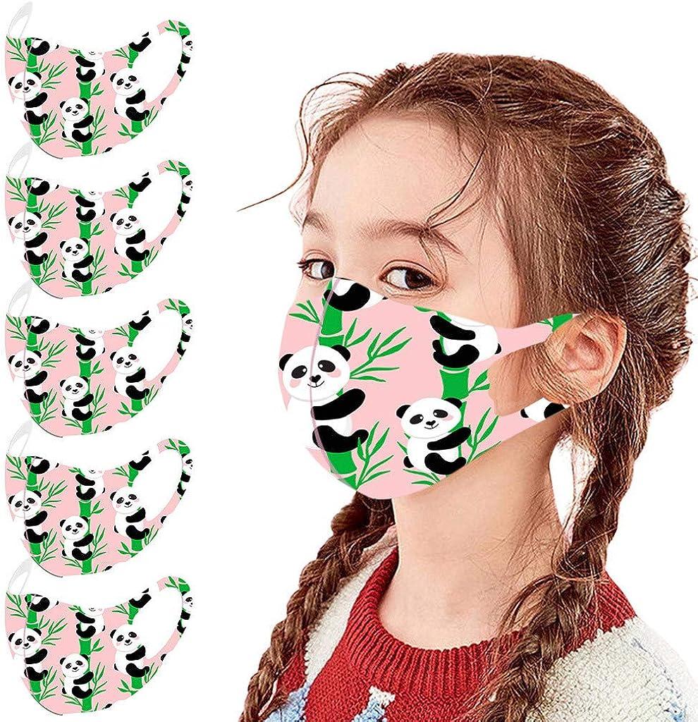 SUGUJU Cute Cartoon Pattern 5PCS Import Kids Face Printed Mail order Ma Adjustable