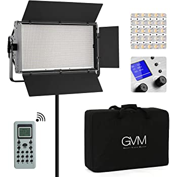 Yidoblo Dimmable RGBW 180W LED Video Light : 2800-9900K CRI 96+ LED Panel Remote,Smartphone APP Video Shooting A-2200C 3 Packs Light Stand for YouTube Studio Photography