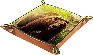 Vockgeng Ours Brun Boîte de Rangement Panier Organisateur de Bureau Plateau décoratif approprié pour Bureau à Domicile tir...