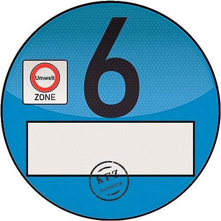 Treuekarten Haftfolie Euro 6 Plakette Blau Umweltplakette Feinstaubplakette Spassplakette Auto