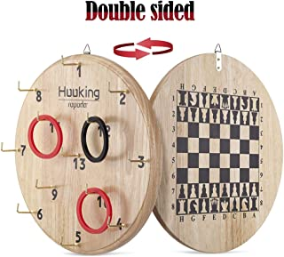 ROPODA Ultimate Hook & Ring Toss Game for Kids & Adults – Fun Ring Tossing Game Set, Safe & Durable Design, Easy to Install and Perfect for Children's Parties, a Man Cave, Home or Office