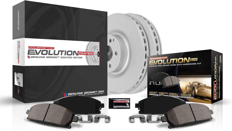 Power Stop CRK5529 超人気 専門店 Z17 Evolution Coated C Front Rotor Kit- 安値 Brake