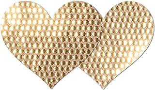 Nippies Style Gold Sequins Heart Waterproof Self Adhesive Nipple Cover Pasties