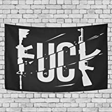 Blue Viper Fuck Guns Print Tapestry Wall Hanging Artistic Home Wall Décor for Living Room Bedroom Dorm Wall Décor 60 x 40 Inches