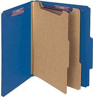 Smead Classification Folder, Letter, 2/5 Right of Center, 2 Dividers, Dark Blue, 10 Per Box (14032)