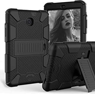 for Galaxy Tab A 8.0 2018 Model, [Kickstand Feature] Shock-Absorption/High Impact Resistant Heavy Duty Armor Defender Case for Samsung Galaxy Tab A 8.0 Inch [SM-T387] 2018 Version (Black)