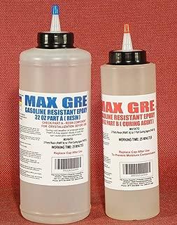 Gasoline Resistant Epoxy- MAX GRE Resin for Coating, Bonding, Potting, Fiberglassing Reinforcement & Repair - Resistant to E85 Gasoline & Diesel Fuel