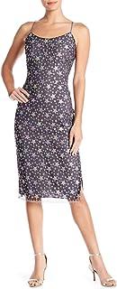 Bebe Women's Star Lace Midi Slip Dress Casual Night Out Dress