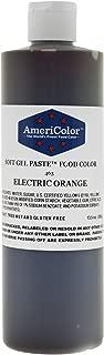 AmeriColor Food Coloring, Electric Orange Soft Gel Paste, 13.5 Ounce