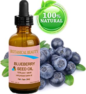 BLUEBERRY SEED OIL. 100% Pure / Natural / Undiluted / Virgin / Unrefined / Cold Pressed Carrier oil. 0.5 Fl.oz.- 15 ml. For Skin, Hair, Lip and Nail Care.