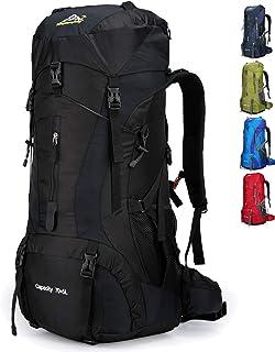 70L Mochila Camping Trekking Senderismo Viaje (con Funda Impermeable)