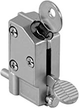 Prime-Line Sliding Door Lock, 5/8 in., Diecast w/Hardened Steel Bolt, Aluminum, Step-On, MP4046