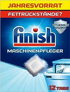 Finish Tabs voor de vaatwasser, vaatwassertabs tegen vuil en vet in de vaatwasser, jaarvoorraad met 12 afwasreinigers tabs