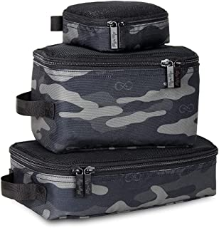 Chelsea + Cole for Itzy Ritzy Packing Cubes – Set of 3 Camo Packing Cubes or Travel Organizers; Each Cube Features a Mesh ...