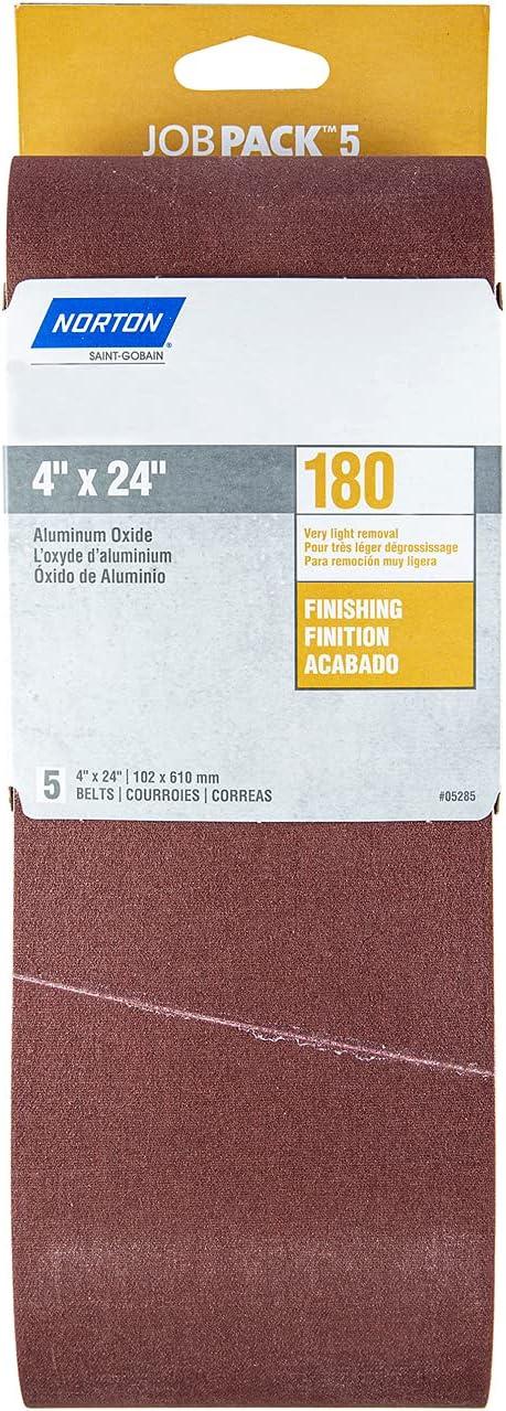 "Norton 07660705285 Bargain 4x24"" Gemini Philadelphia Mall R215 P Cloth Oxide Aluminum"