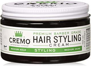 Cremo Premium Barber Grade Hair Styling Cream, Medium Hold, Medium Shine, 4 Ounce