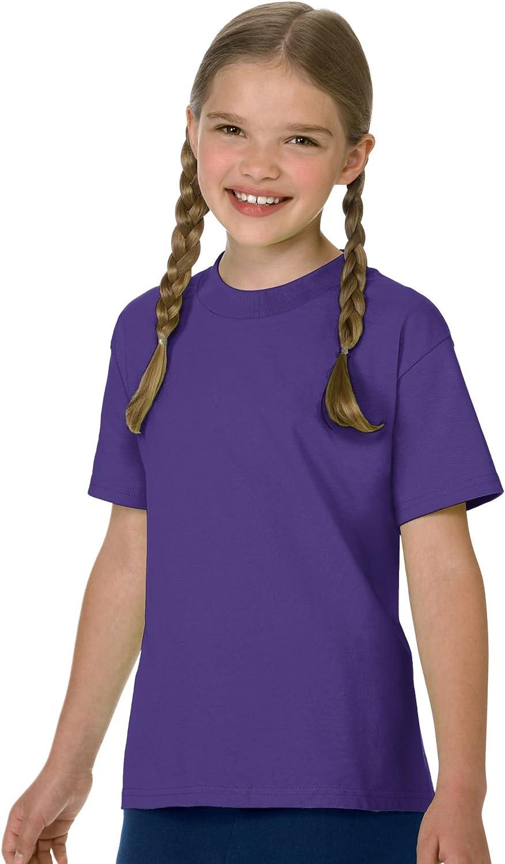 Hanes Boys Cotton T-Shirt(54500)-Purple-S