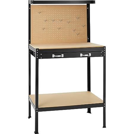 Take Banco de trabajoMesa de Trabajo para Taller Bricolaje Pared Herramientas cajón - Varias tamaños (Typ 1 | 120x60x156 cm | 400855)