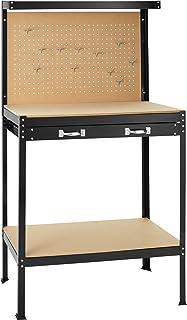 comprar comparacion TecTake Banco de trabajoMesa de trabajo para taller bricolaje pared herramientas cajón - varias tamaños (Typ 2 | 81 x 41 x...