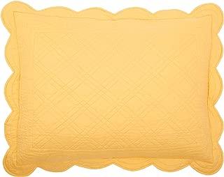 BrylaneHome Florence Sham - Dandelion Yellow, King