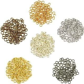 Metal Mix w/Silver - Enameled Copper Jump Rings – 18 Gauge – 3.5mm ID - 600 Rings - Silver, Bronze, Titanium, Hematite, Gold, Vintage Bronze