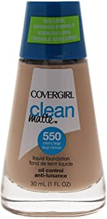 CoverGirl Clean Oil Control Liquid Makeup, Creamy Beige 550, 1.0 Ounce Bottle
