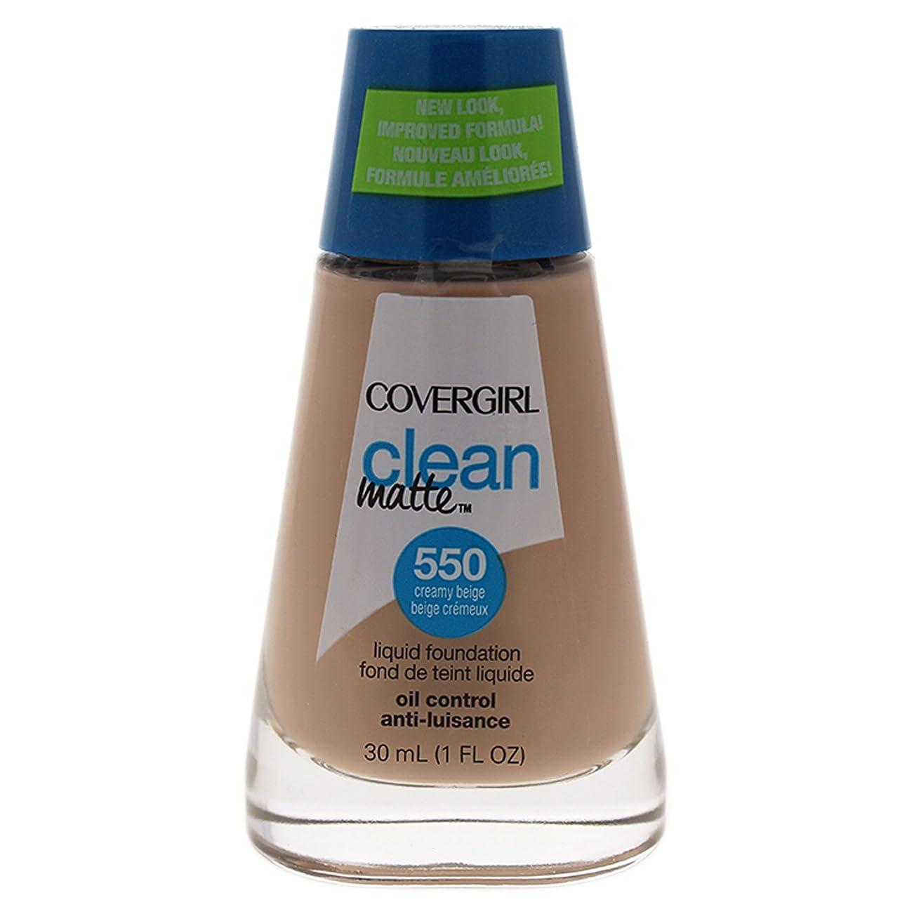 ジョグ従事する学習COVERGIRL CLEAN OIL CONTROL MAKEUP #550 CREAMY BEIGE