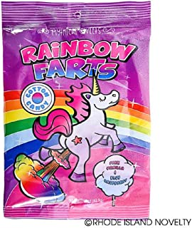 Wish Novelty - Unicorn Farts Mythical Sweets, Bag of Cotton Candy, Gag Gift, Great for Mom, Dad, and Kids, Birthdays or Holidays.