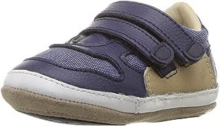 Robeez Boys' Low Top Sneaker-Mini Shoez Crib Shoe Grey/Yellow 6-9 Months