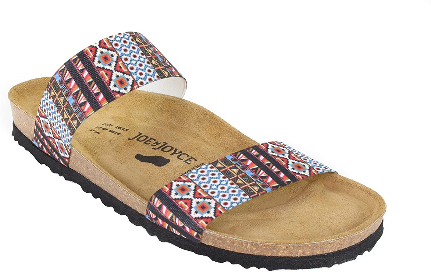 JOE N JOYCE Kreta Elastic Soft-Footbed Sandals