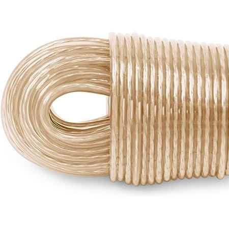 LaundrySpecialist Corde à Linge de 50mètres avec Armature en Acier de Extra-Robuste et Extra-Longue