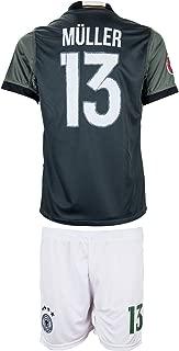 Germany UEFA Euro 2016 #13 Thomas Müller Away Soccer Kids Jersey & Shorts - Youth Sizes