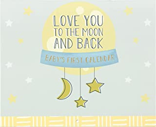 """C.R Gibson BA3-23934 Love You To The Moon and Back Gender Neutral Baby's First Year Calendar, 11"""" W x 9'' H"""
