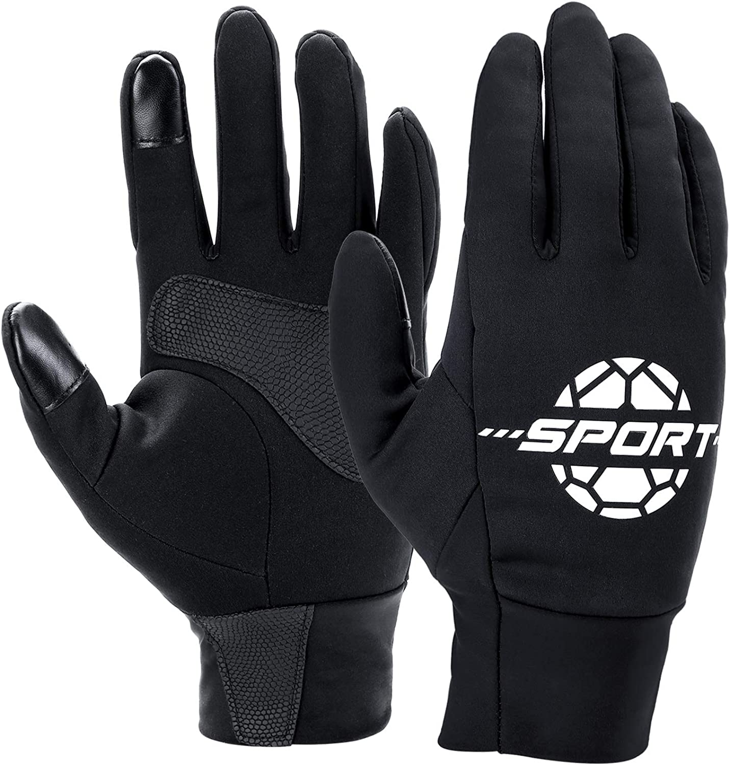 Winter Gloves for Men Women - Black Warm Mittens Liners Athletic Sport Running Cycling Driving Bike Hiking Touchscreen : Sports & Outdoors