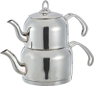 Kahramanlar Karmen Çaydanlık Takımı, Paslanmaz Çelik, Gümüş, 1 Parça