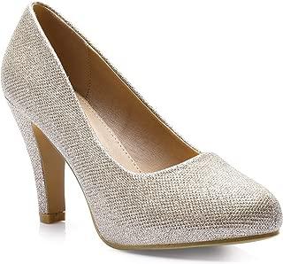 Trary Women's High Heel Dress Platform Pump Shoes
