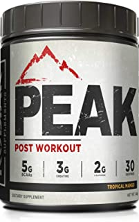Peak Post Workout - BCAA 2:1:1 by Kodiak Supplements - Creatine - Glutamine - Muscle Recovery and Strength Building Supple...