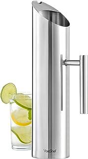 Vonshef - Jarra para agua vonshef – acero inoxidable 1.7