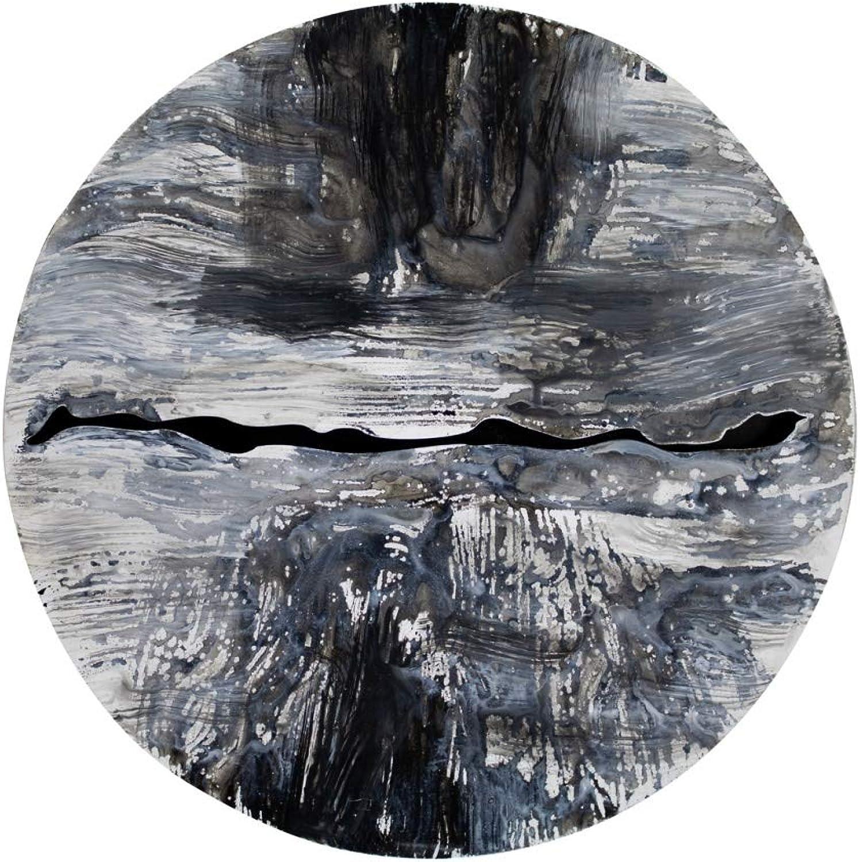 KunstLoft Extravagante Metall Wandskulptur 'Mondexpedition' 60x60x3cm  Design Wanddeko XXL handgefertigt  Luxus Metallbild Wandrelief  Abstrakt Mond Silber  Wandbild modern