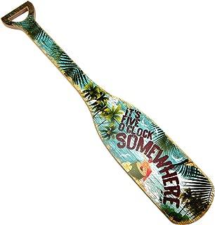 Treasure Gurus Its 5 Oclock O'Clock Somewhere Wooden Boat Paddle Party Decor Wood Oar Wall Art