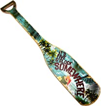 TreasureGurus, LLC Its 5 Oclock O'Clock Somewhere Wooden Boat Paddle Party Decor Wood Oar Wall Art