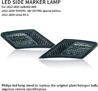 MFC PRO OEM SMD Led Technology ECE Side Marker Lamp For 2012-2019 TOYOTA 86 / GT86 / SUBARU BRZ/Scion FR-S (Smoke Lens with White Light)