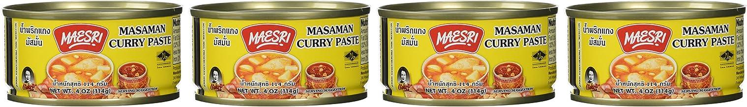 Maesri Thai Masaman Curry - 4 Oz (Pack of 4)
