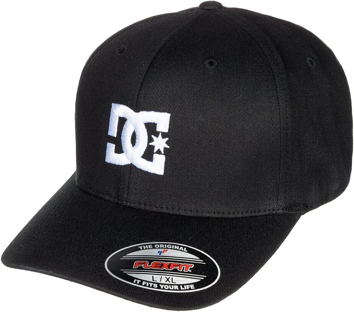 DC Men's Cap Star Flexfit Curve Brim Hat