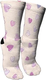 靴下 抗菌防臭 ソックス カラフルハーツアスレチックスポーツソックス、旅行&フライトソックス、塗装アートファニーソックス30センチメートル長い靴下