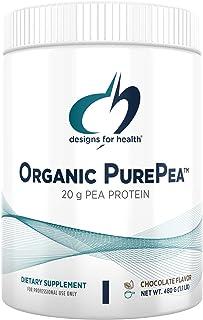 Designs for Health Organic PurePea - 20g Vegan Pea Protein, Organic + Non-GMO Natural Drink Mix Powder Supplement, Chocola...