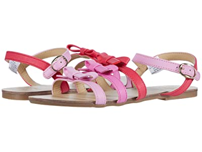 Janie and Jack Multi Bow Sandal (Toddler/Little Kid/Big Kid) (Pink) Girl
