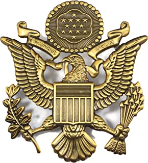 Fosco Replica US Army Officer Visor Cap Badge - Antique