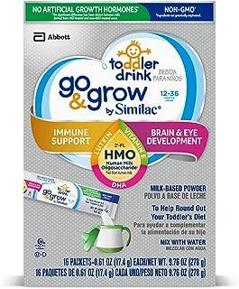 Similac 雅培 Go & Grow Non-GMO 婴幼儿配方奶粉 1-3岁, 2'-FL HMO, 小包装便携装, 17.4 g * 64 包,单盒装