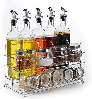 Bar Stools Jars Spice Jars Cuisine Verre Assaisonnement JAR Assaisonnement Sel et Poivre Assaisonnement Bouteille de Stock...
